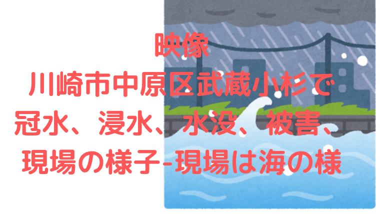 冠水 武蔵 小杉